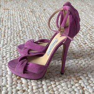 JIMMY CHOO Purple Suede Heels Size 40/10